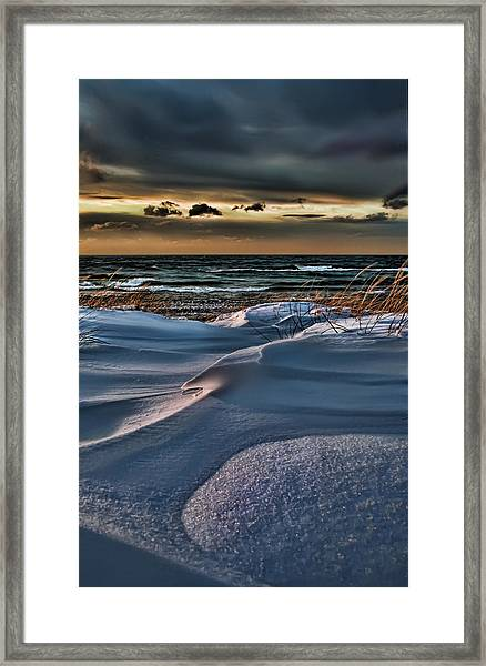 January Saugatuck Blues Michigan Framed Print