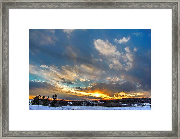 January Sunset Framed Print