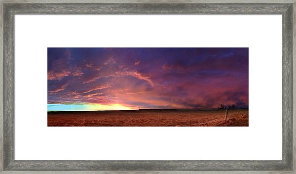 January Sunset With Cold Front Framed Print