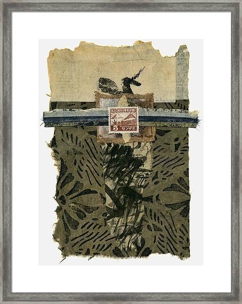 Japan 1943 Collage Framed Print