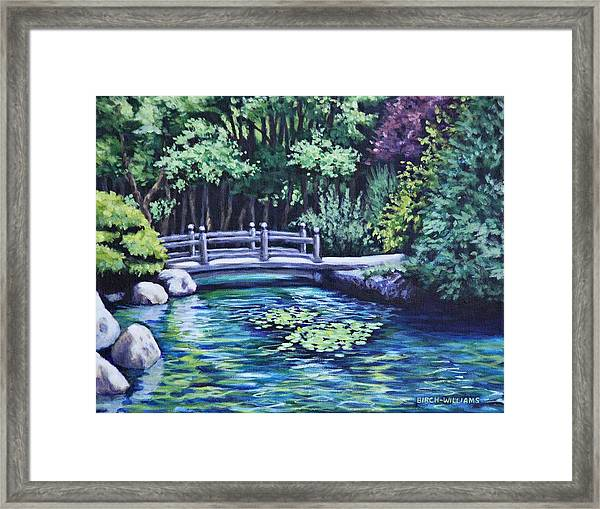 Japanese Garden Bridge San Francisco California Framed Print