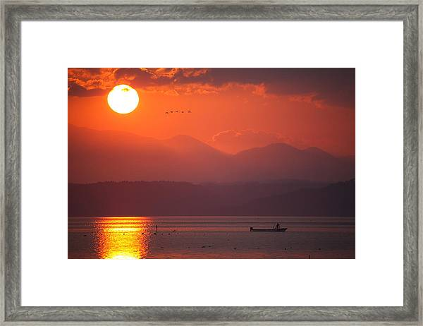 Japanese Sunset Framed Print