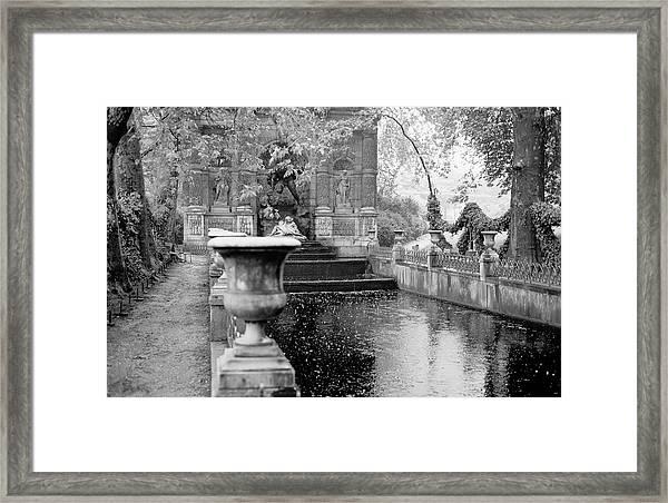 Jardin De Medicis Paris Framed Print