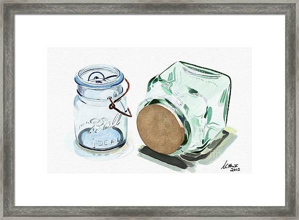 Jars Framed Print