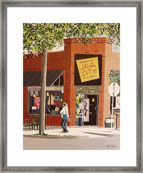 Java City Framed Print by Paul Guyer