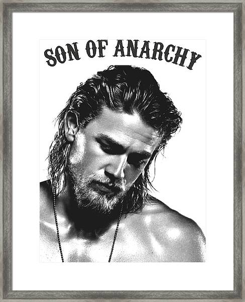 Jax Teller - Son Of Anarchy Framed Print