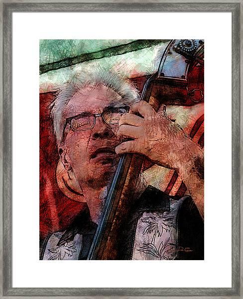 Jazz Bass Man Framed Print