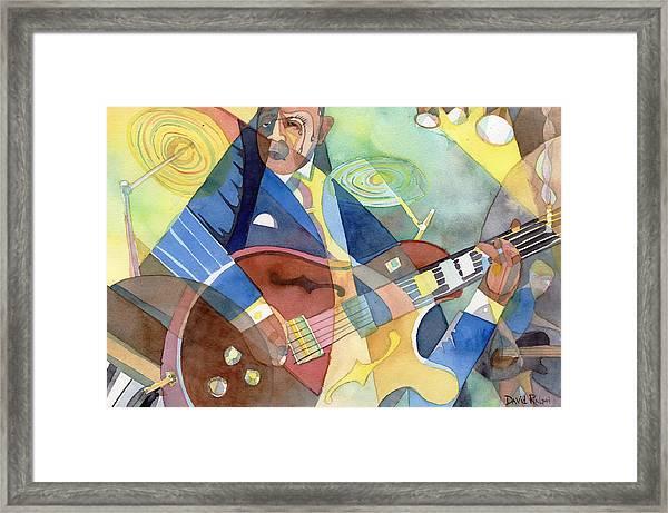 Jazz Guitarist Framed Print