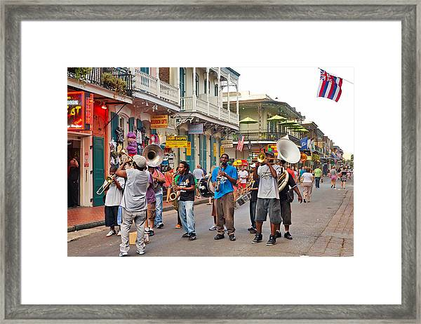 Jazz It Up On The New Orleans Summer Streets Framed Print