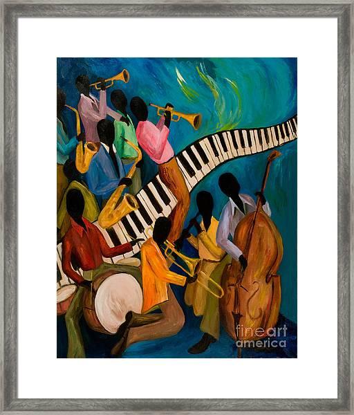 Jazz On Fire Framed Print