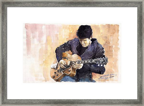 Jazz Rock John Mayer 02 Framed Print