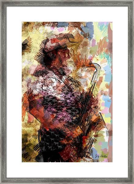 Jazz Sax Player Framed Print
