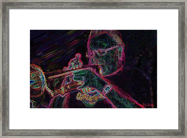 Jazz Trumpet Man Framed Print