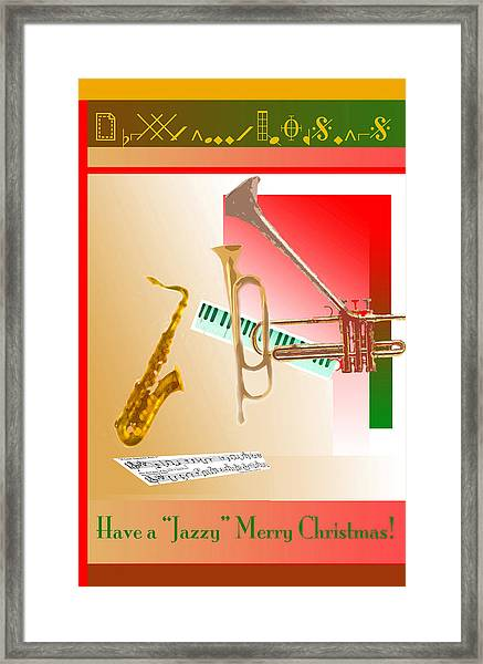 Jazzy Merry Christmas Framed Print