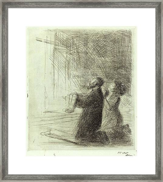 Jean-louis Forain, Lourdes, Imploring Before The Grotto Framed Print