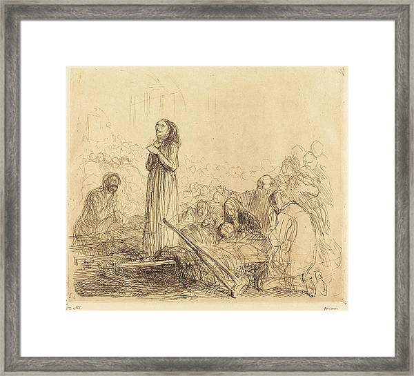 Jean-louis Forain, Lourdes, The Miracle First Plate Framed Print