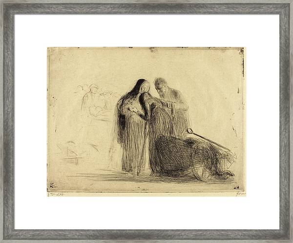 Jean-louis Forain, Lourdes, The Paralytic Second Plate Framed Print