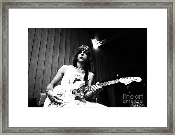 Jeff Beck 1973 Framed Print