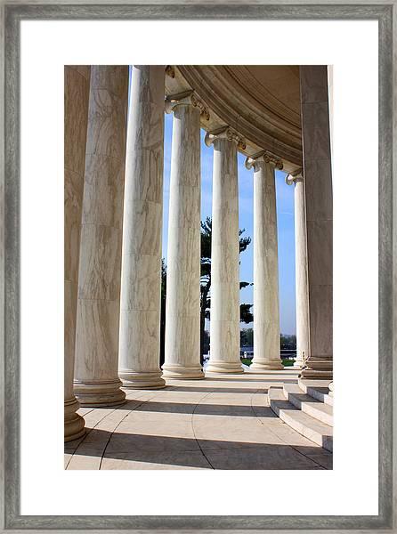 Jefferson Columns Framed Print