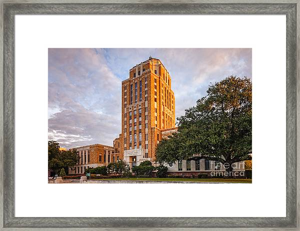 Jefferson County Courthouse At Sunrise - Beaumont East Texas Framed Print