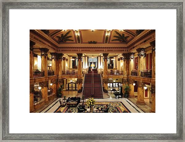 Jefferson Hotel Rotunda Framed Print