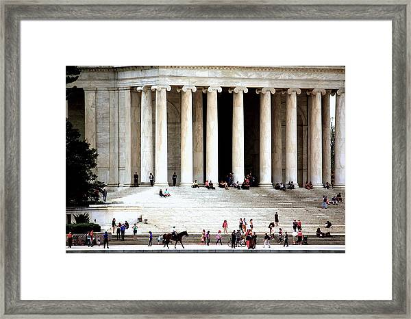 Jefferson Memorial--a Day In The Life Framed Print