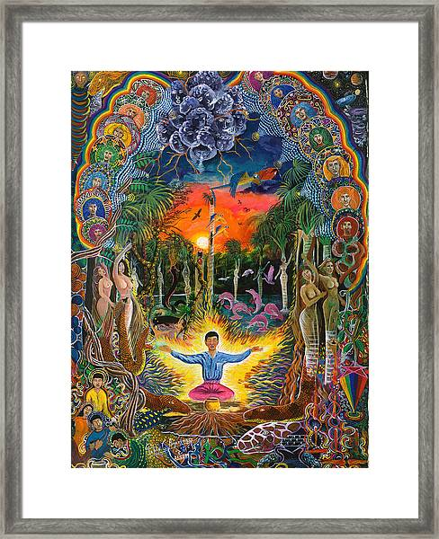 Framed Print featuring the painting Jehua Supai by Pablo Amaringo