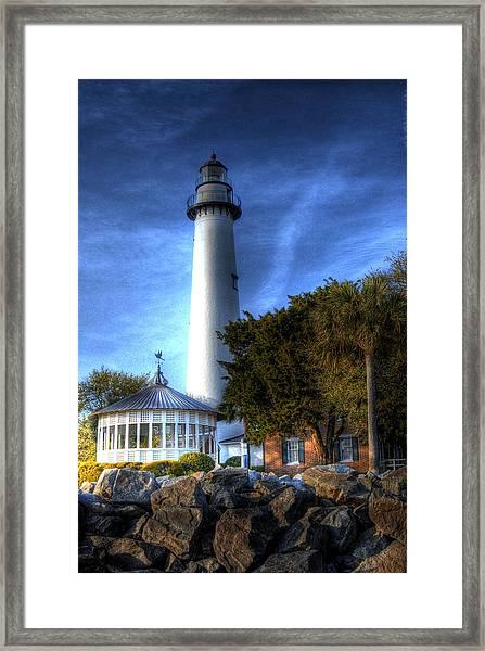 Jekyll Island Lighthouse Framed Print