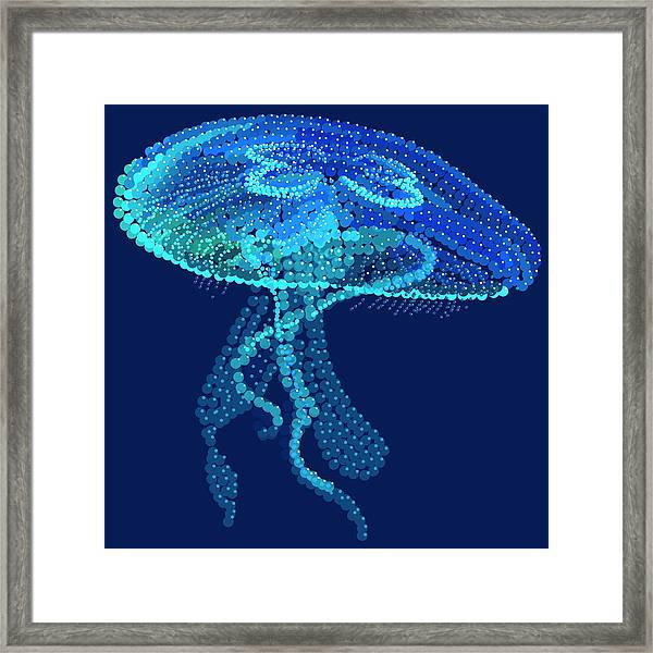 Jellyfish Bedazzled Framed Print