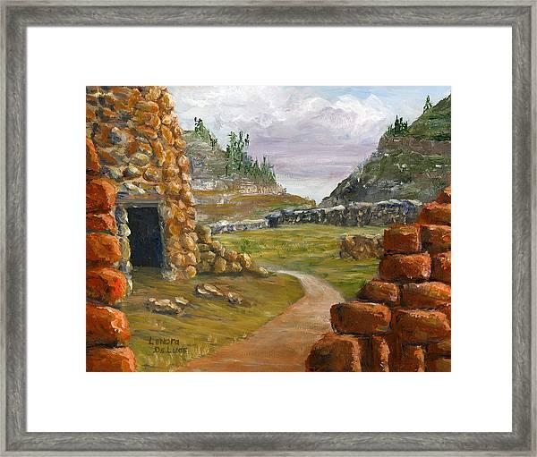 Jemez Inspired Pathway Landscape Framed Print