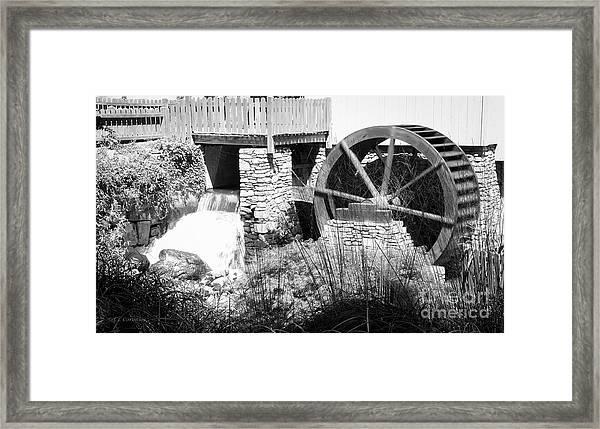 Jenney Mill In Black And White Framed Print