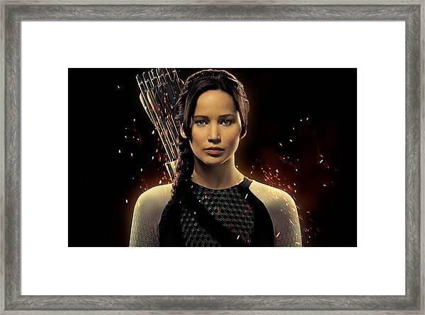 Jennifer Lawrence As Katniss Everdeen Framed Print