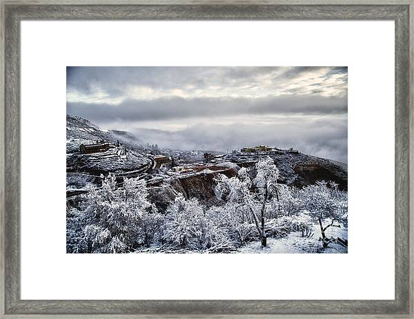 Jerome After Icy Snow Storm Framed Print