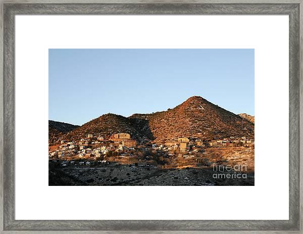 Jerome Arizona At Sunrise Framed Print
