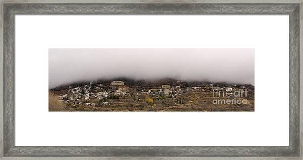 Jerome Arizona Beneath The Clouds Framed Print