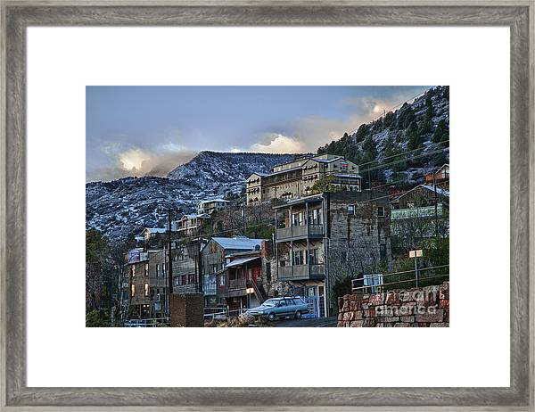 Jerome Arizona Sunrise Hdr Framed Print