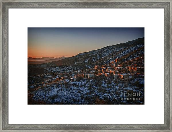 Jerome Sunrise From Sunshine Hill Framed Print