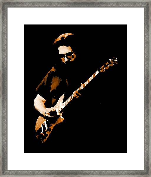 Jerry And His Guitar Framed Print