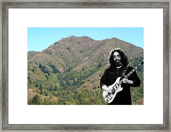 Jerry Garcia And Mount Tamalpais Framed Print