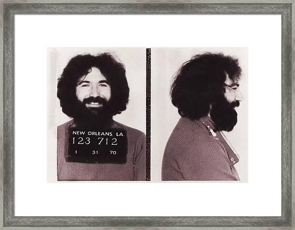 Jerry Garcia Mugshot Framed Print