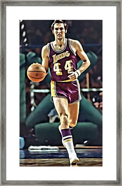 Jerry West Framed Print