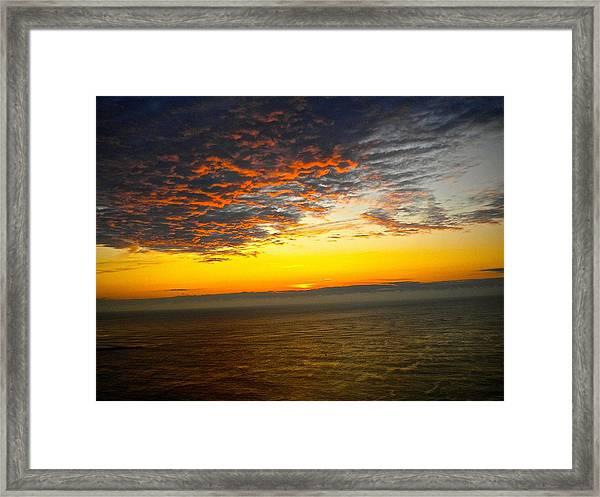 Jersey Morning Sky Framed Print