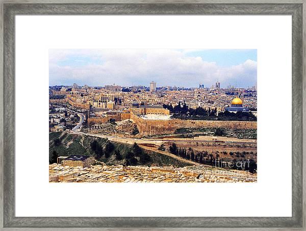 Jerusalem From Mount Olive Framed Print