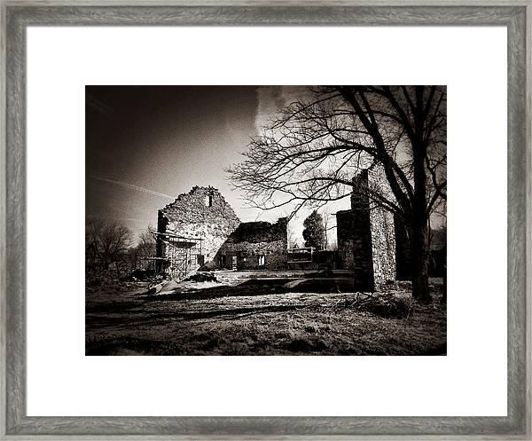 Jerusalem Mill Ruins Framed Print