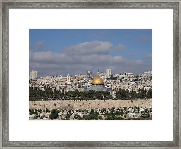 Jerusalem Old City Framed Print
