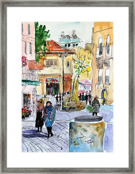 Jerusalem Street Scene Framed Print