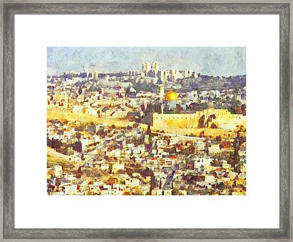 Jerusalem Sunrise Framed Print