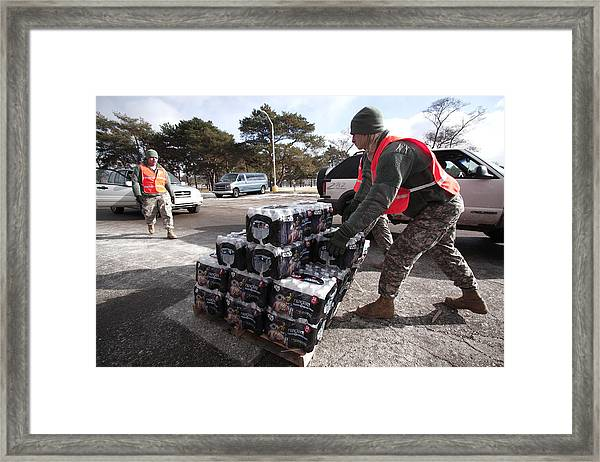 Jesse Jackson Leads Rally Protesting Flint Water Crisis Framed Print by Bill Pugliano