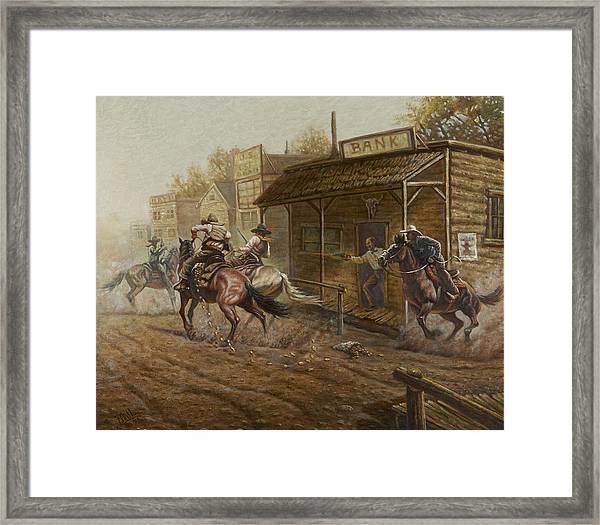Jesse James Bank Robbery Framed Print
