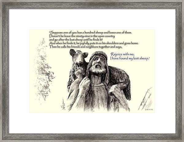 Jesus And Lamb Framed Print